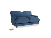 Small Pudding Sofa in True blue Clever Linen