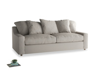 Large Cloud Sofa in Sailcloth grey Clever Woolly Fabric