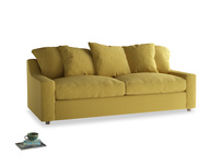 Large Cloud Sofa in Maize yellow Brushed Cotton