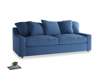 Large Cloud Sofa in English blue Brushed Cotton