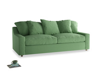Large Cloud Sofa in Clean green Brushed Cotton