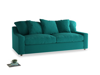 Large Cloud Sofa in Indian green Brushed Cotton