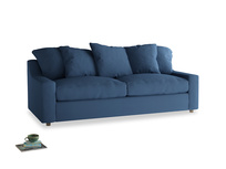 Large Cloud Sofa in True blue Clever Linen