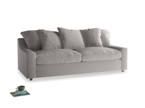 Large Cloud Sofa in Mouse grey Clever Deep Velvet