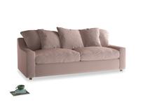 Large Cloud Sofa in Rose quartz Clever Deep Velvet