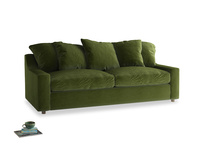 Large Cloud Sofa in Good green Clever Deep Velvet