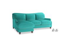 Large left hand Pavlova Chaise Sofa in Fiji Clever Velvet