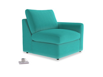 Chatnap Storage Single Seat in Fiji Clever Velvet with a right arm