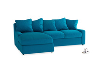 Large left hand Cloud Chaise Sofa in Bermuda Brushed Cotton