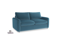 Chatnap Sofa Bed in Old blue Clever Deep Velvet with both arms