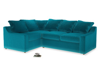 Large Left Hand Cloud Corner Sofa in Pacific Clever Velvet