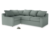 Large Left Hand Cloud Corner Sofa in Sea fog Clever Woolly Fabric