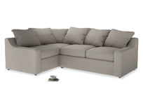 Large Left Hand Cloud Corner Sofa in Sailcloth grey Clever Woolly Fabric