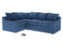 Large Left Hand Cloud Corner Sofa in English blue Brushed Cotton