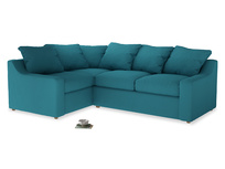 Large Left Hand Cloud Corner Sofa in Dragonfly Clever Linen