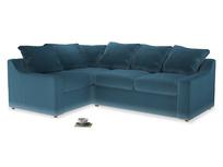 Large Left Hand Cloud Corner Sofa in Old blue Clever Deep Velvet