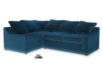 Large Left Hand Cloud Corner Sofa in Twilight blue Clever Deep Velvet
