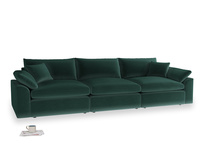 Large Cuddlemuffin Modular sofa in Dark green Clever Velvet