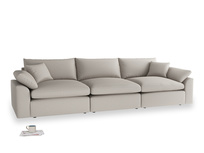 Large Cuddlemuffin Modular sofa in Sailcloth grey Clever Woolly Fabric
