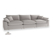 Large Cuddlemuffin Modular sofa in Mouse grey Clever Deep Velvet