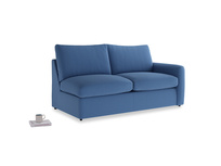 Chatnap Sofa Bed in English blue Brushed Cotton with a right arm