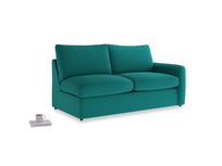 Chatnap Storage Sofa in Indian green Brushed Cotton with a right arm