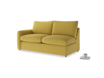 Chatnap Sofa Bed in Maize yellow Brushed Cotton with a left arm