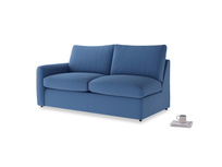 Chatnap Sofa Bed in English blue Brushed Cotton with a left arm