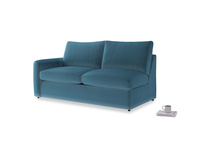Chatnap Sofa Bed in Old blue Clever Deep Velvet with a left arm