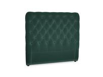 Double Tall Billow Headboard in Dark green Clever Velvet