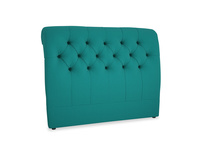 Double Dozer Headboard in Indian green Brushed Cotton