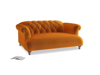 Small Dixie Sofa in Spiced Orange clever velvet