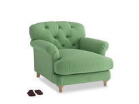 Truffle Armchair in Clean green Brushed Cotton