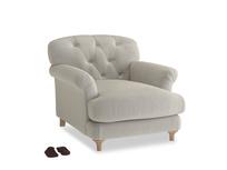 Truffle Armchair in Smoky Grey clever velvet
