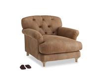 Truffle Armchair in Walnut beaten leather
