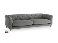 Large Boho Sofa in French Grey brushed cotton