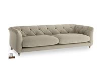 Large Boho Sofa in Jute vintage linen