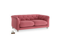 Small Boho Sofa in Raspberry brushed cotton