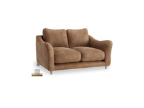 Small Bumpster Sofa in Walnut beaten leather