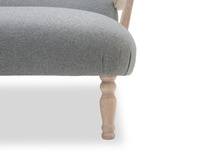 Brew upholstered occasional sofa with wooden arms