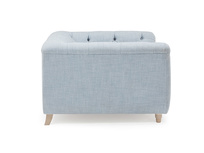 Boho button back high arm love seat
