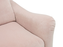 Bumpster curved arm sofa