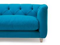 Boho button back tall arm sofa