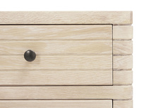 Groover chest of drawers in bleached oak