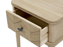 Little Flapper parquet style bedside table
