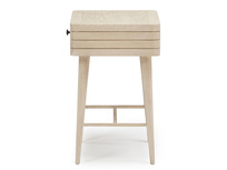 Little Groover bleached oak bedside table