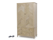 Super Flapper parquet style wooden wardrobe