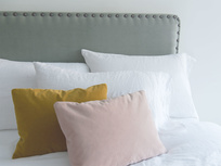 Smith studded headboard