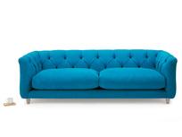 Boho upholstered button back sofa