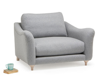 Bumpster love seat with curved arms
